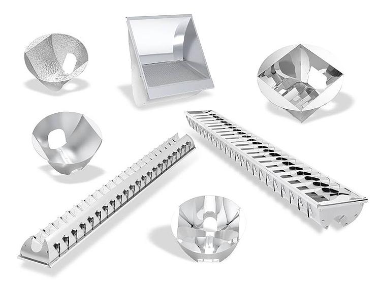 Рефлекторы из анодированного алюминия